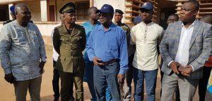 Flash info: le Ministre des Infrastructures et des Transports visite les chantiers de Parakou