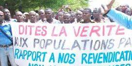 Borgou:2000 fonctionnaires environs marchent contre le gouvernement