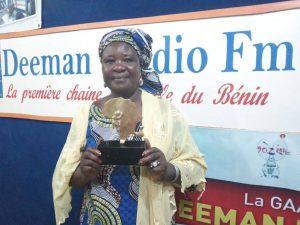 Culture: Madeleine GADO MAURICE  a remporté le trophée sur l'hymne national en baatonum au Bénin